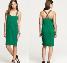 J. Crew Women's Dress Size 12 Twisted-Ribbon Rayon Sheath in Warm Jade Green