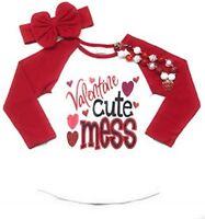 Valentine's Day Cutie T-Shirt Baby Girl Toddler Raglan T-Shirt Clothes Kid