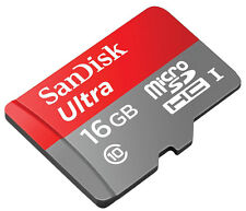 SanDisk Ultra 16 GB Micro sd Card UHS-I Class10 80MB/s  without Adapter 16GB