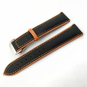 for Omega Seamaster 215 & DeVille series, 19 20 21 22mm Leather Watchband Strap