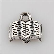 15 The Book Tibetan Silver Charms Pendants Jewelry Making Findings 11mm EIF0146