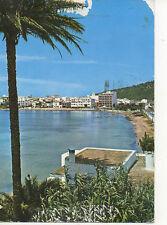 Picture Postcard IBIZA 1980 San Antonio BEACH Palm Tree Balearic Island Coast