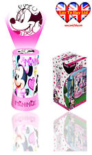 Official Minnie Mouse LED Cylinder Projector Night Light,Kids Bedroom Light