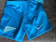 Nike Zenit San Petersburgo Boys Fútbol Shorts Tamaño X Small Edad 6-8 años Dri Fit
