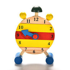 Baby Blocks Early Learning Building Children Educational Wooden Toy Clock SZ