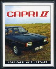 FAMOUS FORDS - THE CAPRI Mk2 Collectors Card Set - JPS Ghia L S X-Pack 3.0 Sport