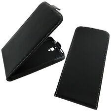 Apple iPhone 5 5S Flip Case Schwarz Flipcase Klapp Etui Hülle Handy Tasche Cover