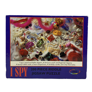 "Vintage I Spy ""Masquerade"" 200 Piece Riddle Puzzle | Ceaco | 1993 | Complete"