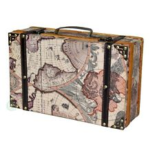 Vintiquewise Old World Map Suitcase