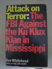 1st Ed ATTACK on TERROR (re Mississippi Klan) / Autographed by J.EDGAR HOOVER /