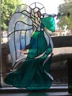 Vintage+Stained+Glass+Angel+With+Trumpet+.Unique+Antique