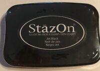 Staz-On Permanent Ink Stamp Pad Jet Black Acid Free, Archival, by Tsukineko