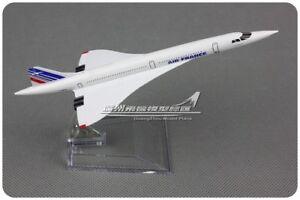 Air France Concorde Passenger Airplane Plane Metal Aircraft Diecast Model