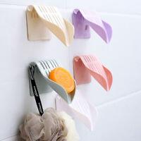 Wall-mounted Drain Soap Box Soap Holder Dish Bathroom Organizer Storage Box Tray