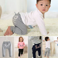 Baby Kids Boys Girls Cat PP Bottoms Harem Pants Casual Trousers Sports Leggings