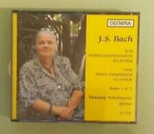 tatiana nikolayeva  BACH THE WELL TEMPERED CLAVIER     CD 4 disc set olympia