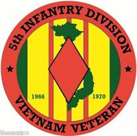 ARMY VIETNAM VETERAN 5TH INFANTRY DIVISION BUMPER CAR STICKER DECAL