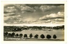 Lunenburg Nova Scotia NS - VIEW OF VILLAGE & DOCKS - RPPC Postcard