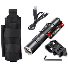 Klarus XT2CR Rechargeable Flashlight w/Battery, Offset Mount +Tactical Holster