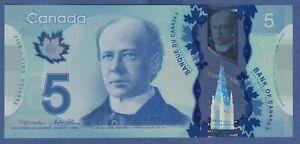 Canada $5 (2013) - UNC POLYMER NOTE ** HBW0980987 **  YSL23
