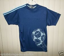 ADIDAS  Short  Sleeve Soccer Blue Jersey Men's Large