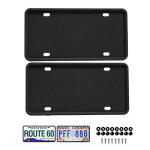 30.5 *15.5*1cm Anti-scratch And Anti-rust Silicone Car License Plate Holdn8