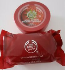 BODY SHOP Strawberry Body Butter 50ml and Strawberry Soap 100g, Brand New!