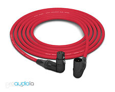Mogami 2549 Cable | Neutrik Gold XLR Right-Angle | Red 12 Feet | 12 Ft. | 12'