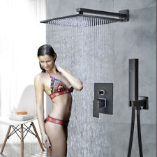 "Shower Combo Set Oil Rubbed Bronze Shower Faucet System 8""Rainfall Hand Shower"