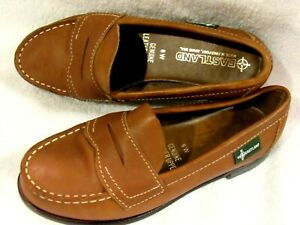 NWOT Eastland Womens 6 W Camel Tan Leather Penny Loafers Moccasin Shoes USA Made