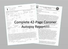 Whitney Houston Complete AUTOPSY REPORT, Coroner Death Report 42 Pages
