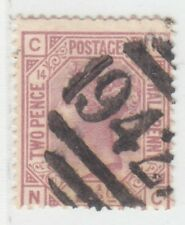 CYPRUS  1876 - 1879  ISSUE 2½ D. PLATE 14 SHOWING '942' LARNACA PMK SG.Z18  RR