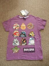 BNWT Next Angry Birds Star Wars C3P0 R2D2 Chewbacca Yoda T-shirt Age 9 Years
