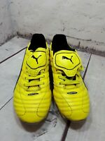 PUMA ESITO FINALE H8 ADULTS YELLOW/BLACK/SILVER RUGBY  BOOTS SIZE 8