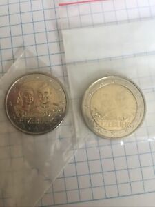 2 Euros Commémorative Luxembourg 2021 Mariage : 2 Versions