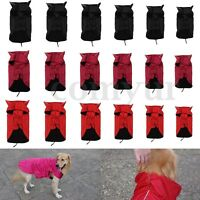 Pet Dog Waterproof Winter warm Coat Jacket Fleece Lined Reflective Piping UK