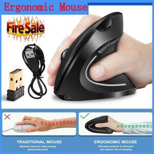 Ergonomic Optical 2.4G Wireless Vertical Mouse 1600 DPI  6Buttons PC & Mac HOT!!