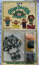 MOC 1984 RED HAIRED GIRL CABBAGE PATCH KIDS SUNCATCHERS STAINED GLASS CPK