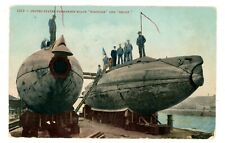 Military Ship -SUBMARINE U.S.S. PORPOISE & SHARK- Postcard Navy/USS