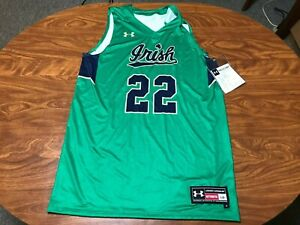 MENS NEW WITH TAGS UNDER ARMOUR NOTRE DAME IRISH BASKETBALL JERSEY SIZE LARGE