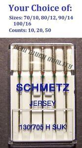 NEEDLES BALL POINT JERSEY 130/705 HB Elna Janome NewHome Necchi Pfaff Simplicity