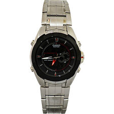 Casio EFA119BK-1AV Men's Analog & Digital Edifice Thermometer World Time Watch