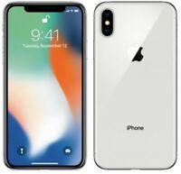 Apple iPhone X 256GB Silver LTE CDMA/GSM Unlocked Great