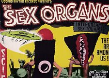 THE SEX ORGANS INTERGALACTIC SEX TOURISTS LP PLUS FREE CD + BOARD GAME + POSTER