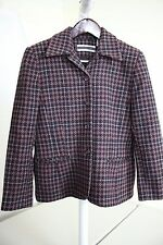 Amanda Smith Petites Wool Blend Multi-Colored Lined 4 Button Jacket Size - 8P
