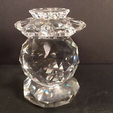 "Vintage Swarovski Silver Crystal Paperweight Old Logo 3"" Tall"