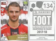 134 CHRISTOPHE KERBRAT EA GUINGAMP Stade Plabennec STICKER PANINI FOOT 2018