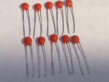 10 Pieces 1nF 50V 102 DIP Ceramic Disc Electrolytic Capacitor USA Seller A3