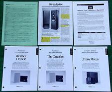 Boston Acoustics Speakers Literature Lot Runabout I Ii Subsat 6 Series Home Thx