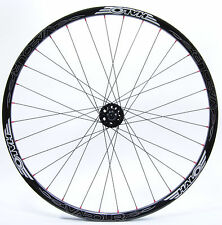 "HALO VAPOUR, MOUNTAIN BIKE FRONT WHEEL, 650B / 27.5"", BLACK w/ RED NIPPLES,32 H"